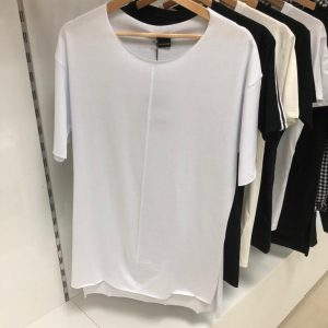 Scoop Neck White Tee
