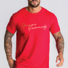 Red Tee With Gold Logo