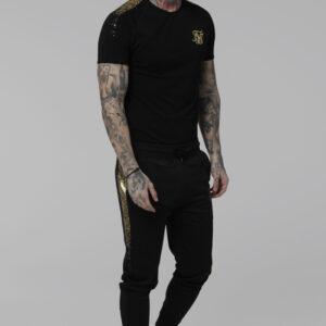 Raglan Foil Fade Gym Tee Black Gold