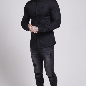 Cotton Stretch Shirt Black