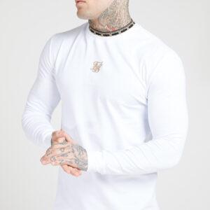 Long Sleeve Collar Tee – White