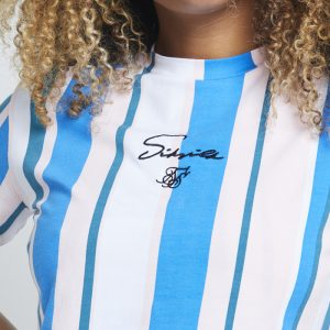 Stripe Crop Tee – Blue & White