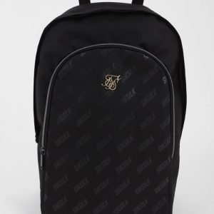 Diagonal Repeat Backpack – Black
