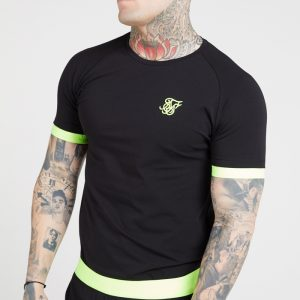 Neon Tech Tee – Black and Yellow