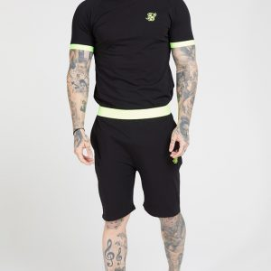 Relaxed Shorts – Black & Neon