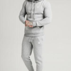Muscle Fit Overhead Hoodie – Grey